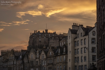 Castle & Grassmarket Sunset 12th August 2020