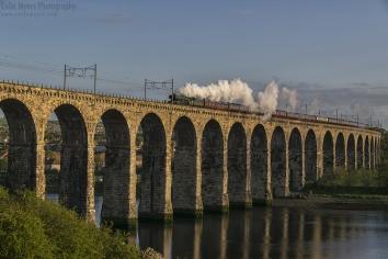 Berwick Upon-Tweed - Flying Scotsman Crossing Royal Broder Bridge