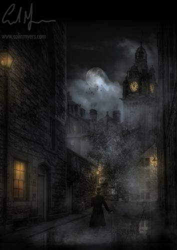 """Auld Reekie Moonlit Fog"" - Digital Painting/Artwork (Colin Myers)"