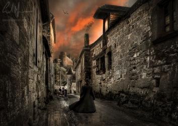 """Victorian Sunset Walk"" - Digital Painting/Artwork (Colin Myers)"