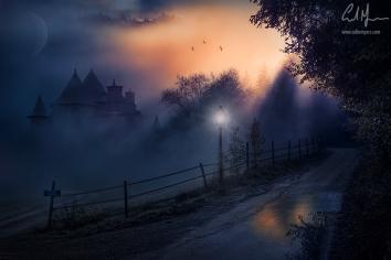 """""""Sunset Fog (Do Not Enter)"""" - Digital Painting/Artwork (Colin Myers)"""
