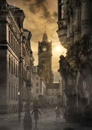 """""""Auld Reekie At Sunset"""" - Digital Painting/Artwork (Colin Myers)"""