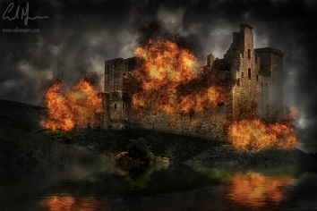 """Crichton Castle Sacked"" - Digital Painting/Artwork (Colin Myers)"