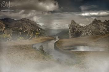 """Fantasy Landscape 1"" - Digital Painting/Artwork (Colin Myers)"