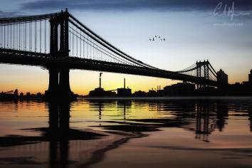 """Manhattan Bridge Sunset"" - Digital Painting/Artwork (Colin Myers)"
