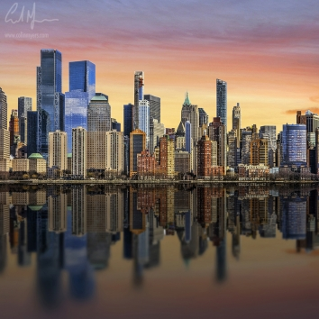 """New York City Sunset 2"" - Digital Painting/Artwork (Colin Myers)"