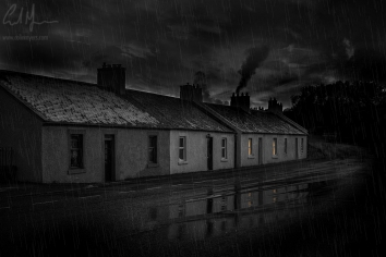 """""""Old Village By Night"""" - Digital Painting/Artwork (Colin Myers)"""