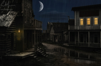 """""""Old West & Moon"""" - Digital Painting/Artwork (Colin Myers)"""