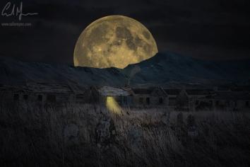 """Old Farm & Moon"" - Digital Painting/Artwork (Colin Myers)"
