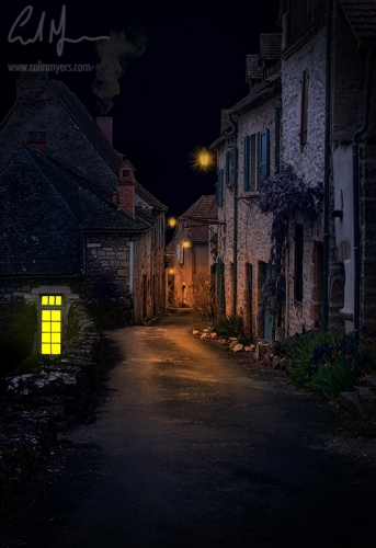 """""""Old Lane By Night"""" - Digital Painting/Artwork (Colin Myers)"""