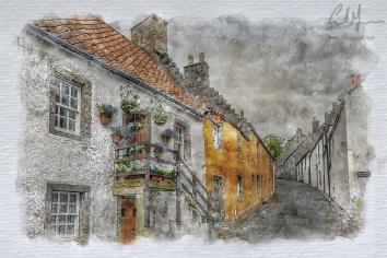Tanhouse Brae, Culross (Digital Painting) - Digital Painting/Artwork (Colin Myers)