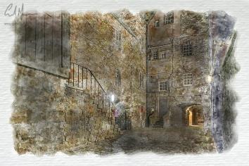Bakehouse Close, Edinburgh (Digital Painting) - Digital Painting/Artwork (Colin Myers)