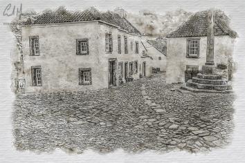 Mercat Cross, Culross (Digital Painting) - Digital Painting/Artwork (Colin Myers)