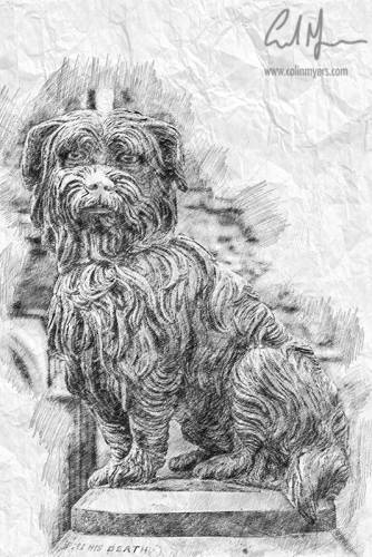 Greyfriars Bobby Sketch (Digital Painting) - Digital Painting/Artwork (Colin Myers)