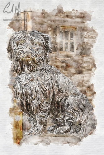 Greyfriars Bobby Painting (Digital Painting) - Digital Painting/Artwork (Colin Myers)