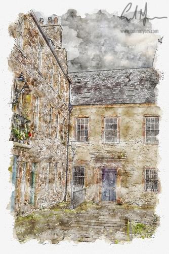 Tweeddale Court (Digital Painting) - Digital Painting/Artwork (Colin Myers)