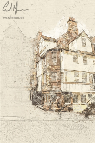 John Knox House (Digital Painting) - Digital Painting/Artwork (Colin Myers)