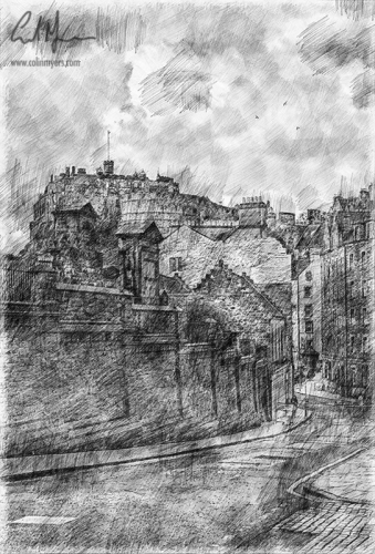 Candlemaker Row (Digital Sketch) - Digital Painting/Artwork (Colin Myers)