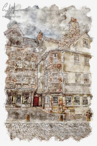 John Knox House - Royal Mile (Digital Painting) - Digital Painting/Artwork (Colin Myers)