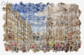 Royal Mile (Digital Painting) - Digital Painting/Artwork (Colin Myers)