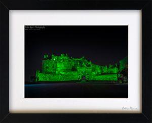 Edinburgh Castle Green (Framed) - 1