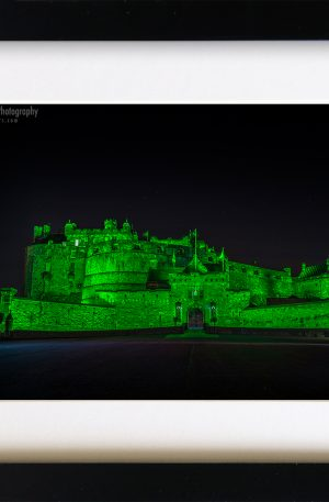 Edinburgh Castle Green (Framed) - 1