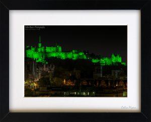 Edinburgh Castle Green (Framed) - 2