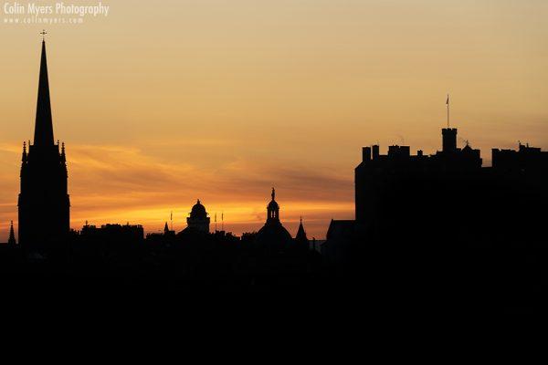 Edinburgh Sunset Silhouette